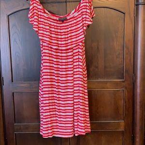 Lane Bryant red/white knit dress